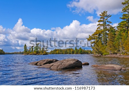 Little Saganaga Lake in the Boundary Waters in Minnesota - stock photo