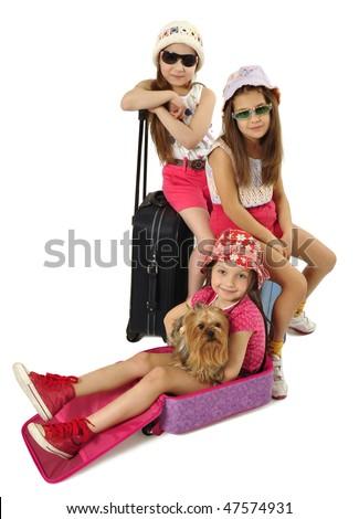 Little tourists - stock photo