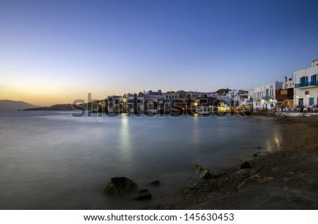 Little Venice, Mykonos Town - stock photo