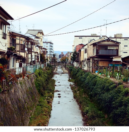 Little village in Kyoto. Shoot at 2012 summer time. - stock photo