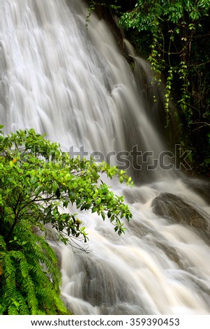Little Waterfall, Barron Gorge National Park, Cairns, Queensland, Australia - stock photo