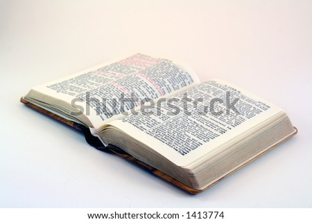 Little wooden bible - stock photo