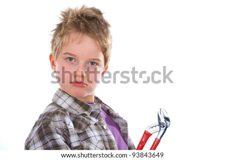little workman - stock photo