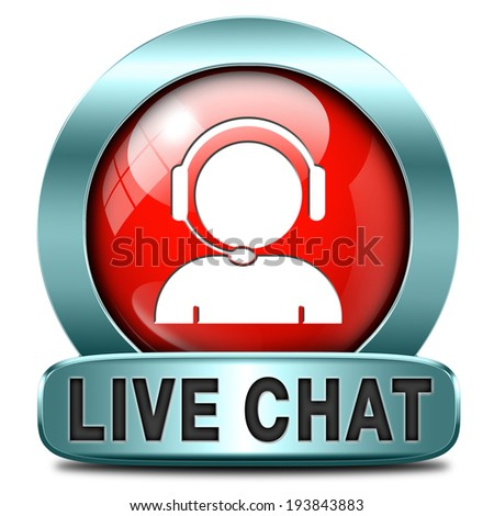 live chat icon. Chatting online button.  - stock photo