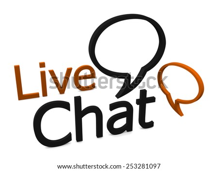 Live chat speech bubble icon isolated on white background - stock photo