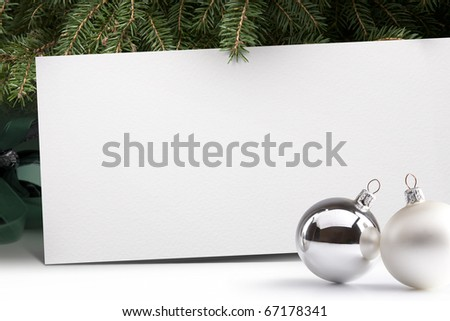 Live Christmas tree on a white background - stock photo