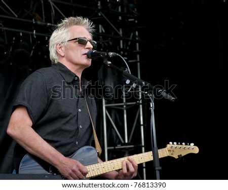 Live Guitarist - stock photo