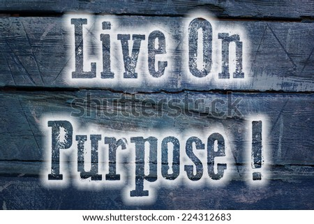 Live On Purpose Concept text on background - stock photo