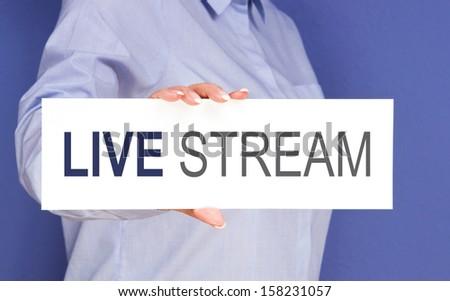 Live Stream - stock photo