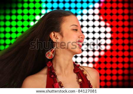 Lively Teenager With Energy Dancing The Night Away At A Disco - stock photo