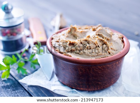 liver pate - stock photo