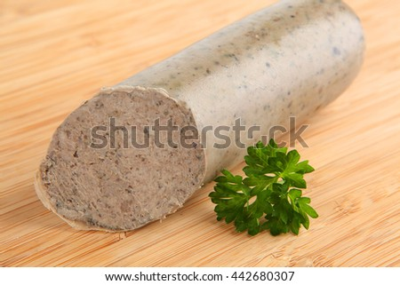 liver sausage - stock photo
