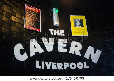 LIVERPOOL, ENGLAND - MARCH 31, 2013: The Beatles made their first appearance at the Cavern Club on 9 February 1961 - stock photo
