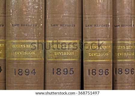 LIVERPOOL 16TH JANUARY 2016 Law reports Queens Bench Division 1894-1896 - stock photo