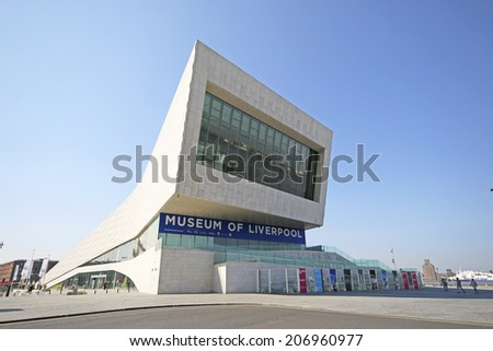 LIVERPOOL, UK - JULY 24TH 2014: The Museum of Liverpool's intention is to tell the story of Liverpool and its people, and reflect the city�s global significance - stock photo