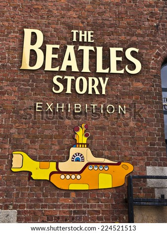 LIVERPOOL, UK - JULY 26, 2014: The Beatles Story is a visitor attraction dedicated to the 1960s rock group The Beatles in Liverpool. - stock photo