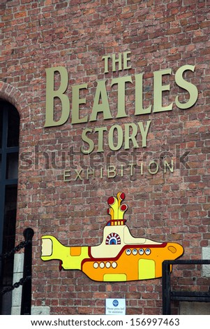 LIVERPOOL, UK - JUNE 16: The Beatles Story, opened since May 1990 in Albert Dock, Liverpool, gives guests an exciting journey into the life, times, culture and music of the Beatles. June 16, 2011 - stock photo