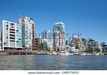 Living in Vancouver, British Columbia, Canada - stock photo