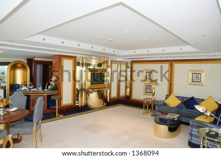 Living room at luxury hotel - stock photo