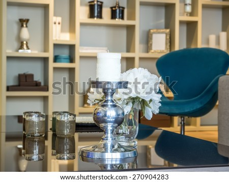 Living room decoration - stock photo