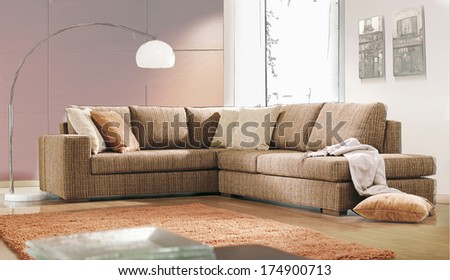 living room drawing - stock photo