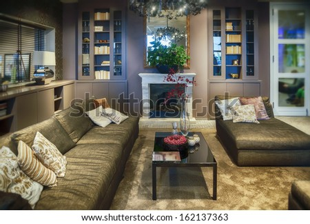 living room in contemporary style  - stock photo
