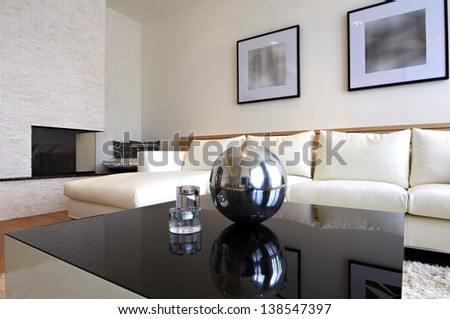 Living room interior - stock photo