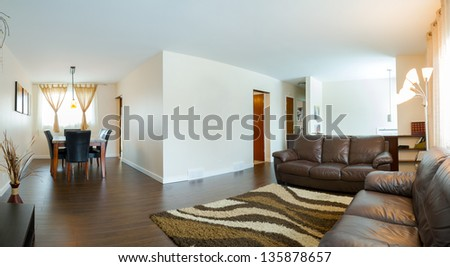 Living room Interior design in a new house - stock photo