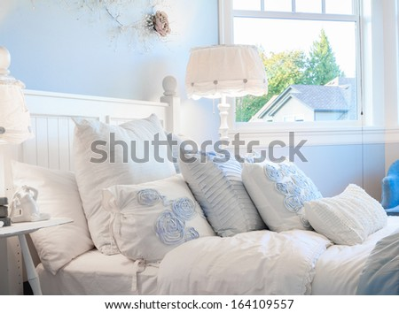 Living Room Panorama of Luxury Home - stock photo