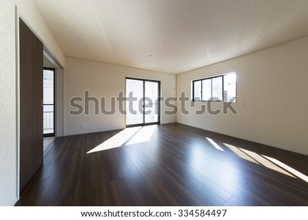 Living Western-style image simple unfurnished construction cases - stock photo