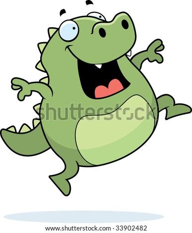 Lizard Jumping - stock photo