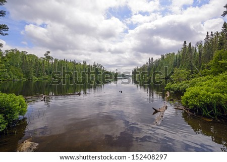 Lizz Lake in the Boundary Waters in Minnesota - stock photo