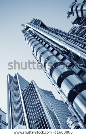 Lloyds of London and Willis Building in City of London. - stock photo