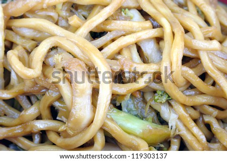 lo mein chineese food - stock photo