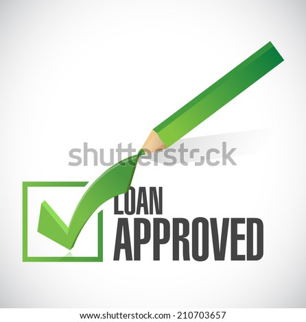 load approved check mark illustration design over a white background - stock photo