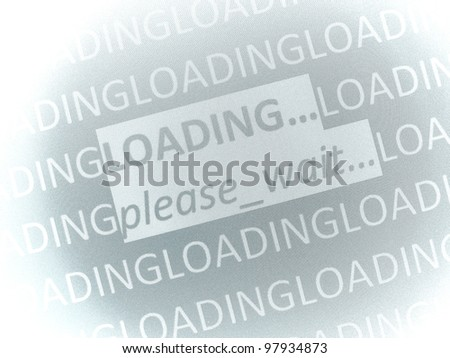 loading...please wait - stock photo