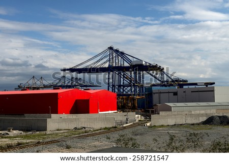 Loading port in Athens, Greece - stock photo