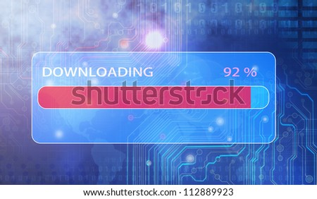 loading progress bar button - stock photo