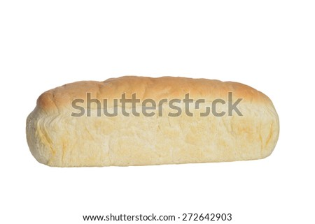 loaf homemade white bread - stock photo