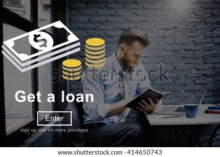Loan Banking Capital Debt Economy Money Borrow Concept - stock photo