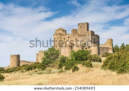 Loarre castle, Huesca (Spain) - stock photo