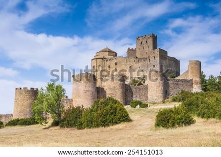 Loarre castle, Huesca (Spain) - stock photo