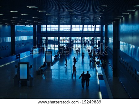 Lobby in a business center building - stock photo