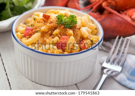 Lobster Macaroni and Cheese - stock photo