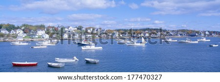 Lobster Village, Northeast Harbor of Mount Desert Island, Maine - stock photo