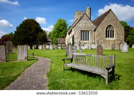 Local Church in Chevening Kent - stock photo