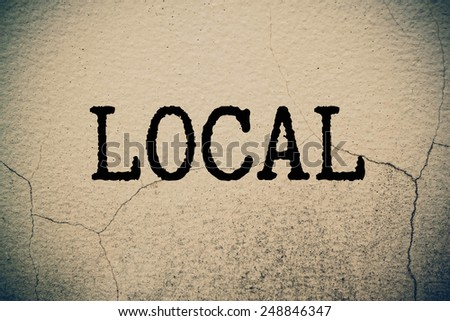 local concept - stock photo
