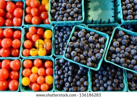 local fruit market sale in seattle, washington - stock photo