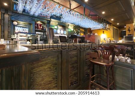 Local pub interior - stock photo