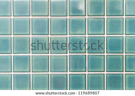 local style Thai Green ceramic tiles - stock photo